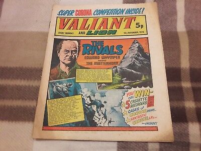 Valiant And Lion Comic. 16Th November 1974. Ipc Magazines Ltd. 5P.
