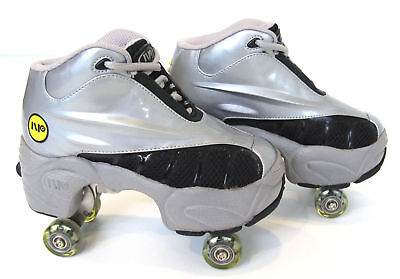 Quad KICK ROLLER Skates retractable WALKnROLL BN Silver/Grey FREE SHIPPING