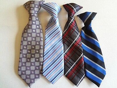 BOY'S PRE-TIED -   NECK TIES (4) TIES FOR AGES  6 - 12 months