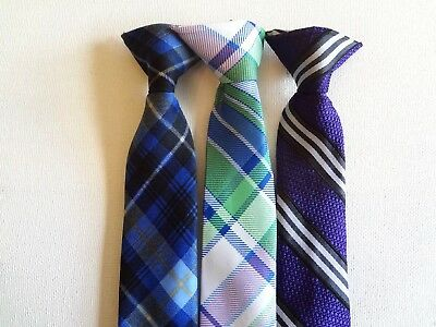 Boy's Pre-Tied -   Neck Ties (3) Ties For Ages 2 - 4 Years