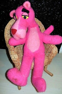 """VINTAGE PINK PANTHER 17"""" PLUSH STUFFED FIGURE 1960s or 1970s HTF"""