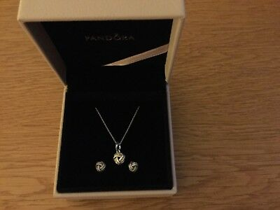 Pandora Knot Necklace and Earrings Set