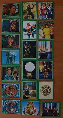 Rare Joli Lot 19 Anciens Stickers Power Rangers Merlin Collections