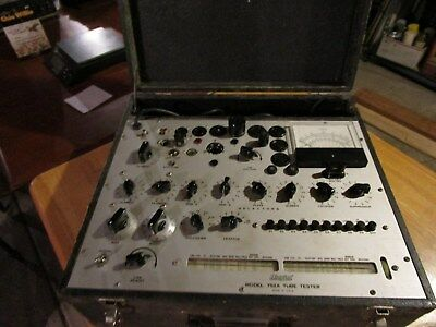 Hickok Model 752A Tube Tester with Instruction Manuals, Test Wires