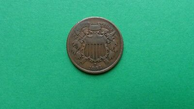 1864 Two Cent Piece - Small Motto