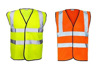 Plus Size Adult Hi Visibility High Viz Vest Waistcoat Safety Reflective 7XL-12XL