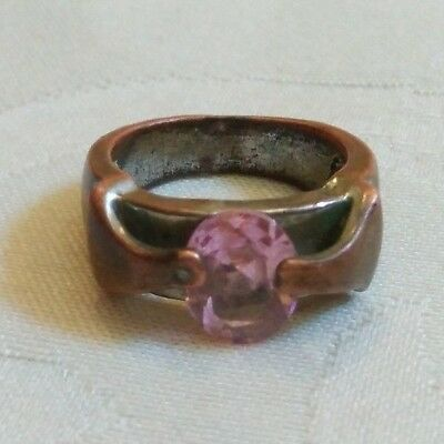 rare ancient antique roman authentic ring bronze with stone
