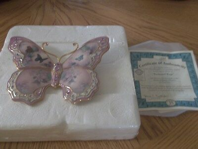 Jewels of Nature ENCHANTED WINGS Plate Lena Liu #1 Butterfly Floral Bradford Ex