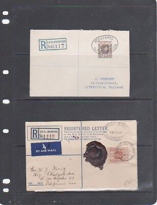 MAURITIUS - Lot-of-2 1938-1948 KGVI Registered Covers