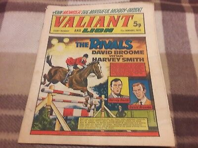 Valiant And Lion Comic. 11Th January 1975. Ipc Magazines Ltd. 5P.
