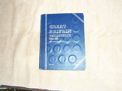 Whitman Folder for Great Britain 1937- Brass 3P with 28 coins