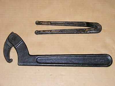 "Williams #482 Face Spanner & Fairmount 2""- 4-3/4"" Hook Spanner Wrench"
