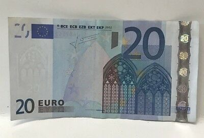 European Union 20 Euro 2002 Banknote Bill Collectible Currency Paper Money Used