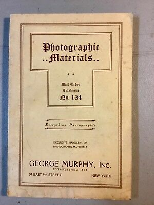 1934 PHOTOGRAPHIC MATERIALS Catalog, George Murphy, Inc. New York