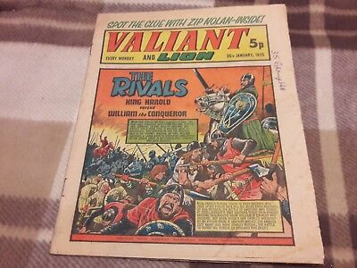 Valiant And Lion Comic. 25Th January 1975. Ipc Magazines Ltd. 5P.