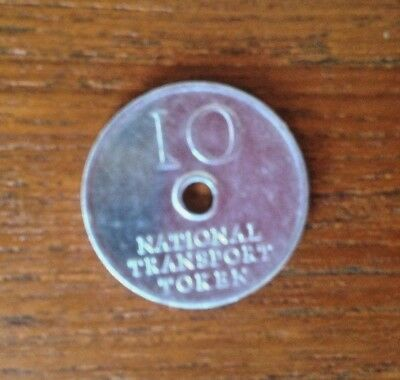 National transport 10p token - Good condition - Same logo on both sides.