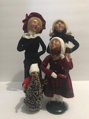Vintage Byers Choice Ltd The Carolers Lot Of 4 1992-2013