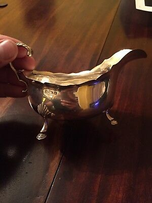 Superb Heavy Solid Silver Gravy Or Sauce Boat English hallmarked