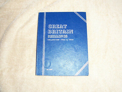 Whitman Folder for Great Britain Shillings 1902-1936 with 24 Silver Coins