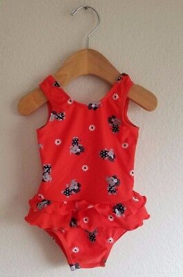 Just You Carters 9 Month Elephant Print Infant Swimsuit One Piece Ruffled