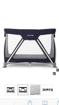Nuna Sena Mini Travel Cot, Space Saver, Compact, works as crib and deep cot