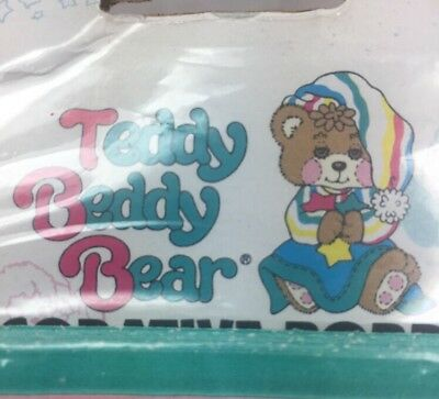 Vintage Fisher Price TEDDY BEDDY BEAR Pre-Pasted Wallpaper Border Borden NOS