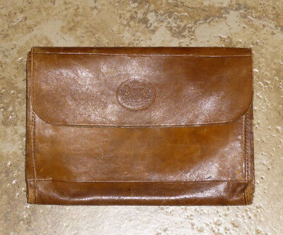 Antique Leather Wallet Order of the Garter Motto 1800's