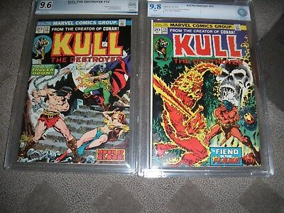 KULL  # 12 & 13  CGC  CBCS PGX  9.6 & 9.8 white pages TWO BOOKS!