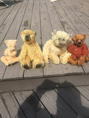 Old Antique Toy Bear Lot Toys Vintage Doll Collection Like Steif