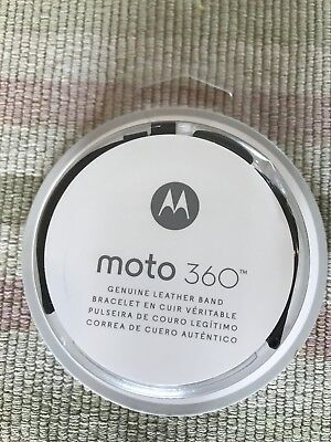New Genuine OEM Motorola Leather Replacement Band Moto 360 Smart Watches BLACK
