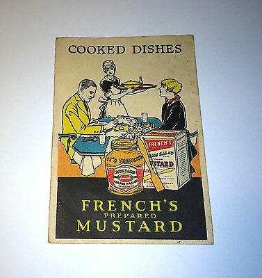 """French's Mustard Advertising """"Cooked Dishes"""" Miniature Recipe Book! C.1926 No.16"""