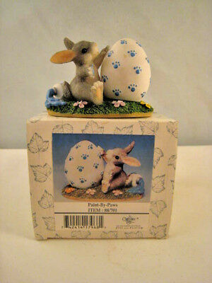 """Charming Tails Fitz and Floyd """"Paint by Paws"""" by Dean Griff Retired NIB"""