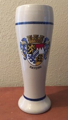 Bayern Beer Stoneware Pilsner 0.5L Crest And Colbalt Blue Design