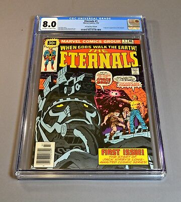 "The Eternals # 1 ""30 cent variant"" CGC slabbed and graded 8.0 VF! RARE!"