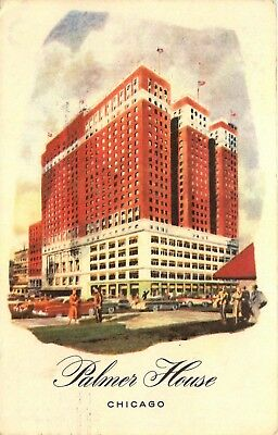 Chicago, Illinois, IL, Palmer House, Hotel, 1957 Vintage Postcard d2931
