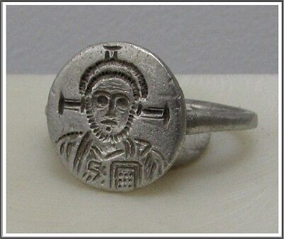 ** JUSTINIAN II ** Ancient Silver Byzantine Ring** TOP **AMAZING**
