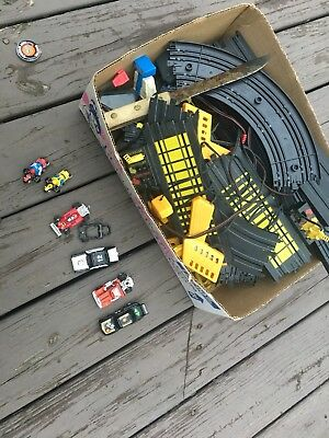 Tyco Slot Cars Set Tracks Lot Old Race Cars Toy Toys Vintage Motorcycle