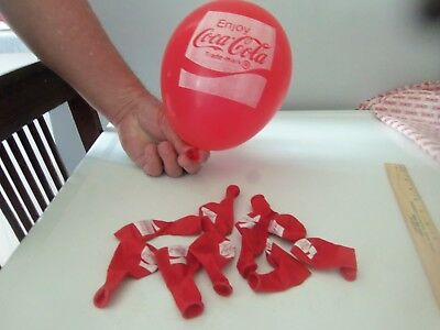 Lot of 10 Vintage Coca Cola Balloons  - New / Old Stock