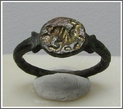 ** LION **Ancient Bronze Legionary Roman Ring **AMAZING **