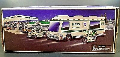 Hess 1998 Toy Recreation Van With Dune Buggy And Motorcycle Mib