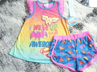 Girl's Super Hero  2 pc Pajama Set  Size 4/5  ~NEW w/Tag~ Very cute  & colorful!