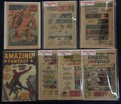 RARE Lot Amazing Fantasy 6 8 9 11 12 13 + 30 Gold Silver Age Ditko Lee 15 Comic
