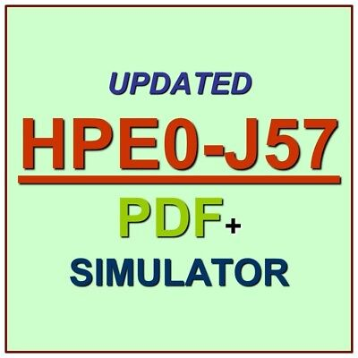 HP Designing HPE Storage Solutions Exam HPE0-J57 Test QA SIM PDF+Simulator
