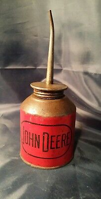 Rare Vintage Antique RED JOHN DEERE Oil Can New Augusta Indiana
