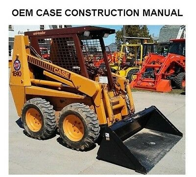 CASE 1840 SKID STEER LOADER SHOP SERVICE REPAIR and PARTS MANUAL on CD