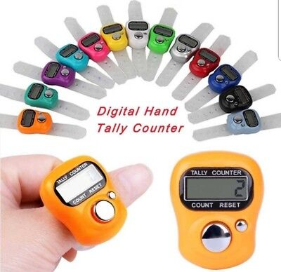 3pc Digital Digit LCD Electronic Hand Finger Tally Counter For Golf School Sport