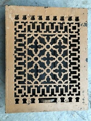 "9"" x. 12"" Antique Heat Floor Grate"
