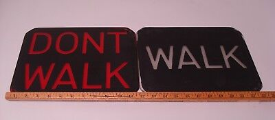 "Vintage  Pedestrian walk-don't walk GLASS LENS  for 12"" x 9""  light #2"