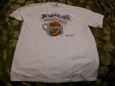 K SHE 95   2010 winter blood drive shirt-item is new without tags-SIZE LARGE