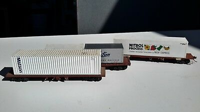 Ho Container Wagons 3 Brown